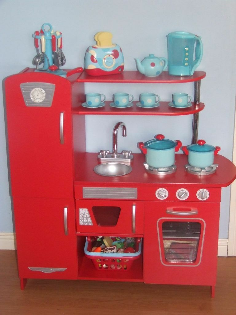 Kidcraft Retro Kitchen Red Lots Of Extras Inc A Range Early