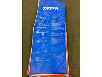 York Padded Floor Exercise Mat 20mm Extra Thick Fitness Yoga Pilates Gym Workout