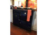 Range boiler oil fired. Dark blue enamel and chrome, good condition £200 ono