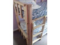 bunk beds handmade