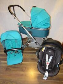 Mamas And Papas Urbo 2 Travel System Teal