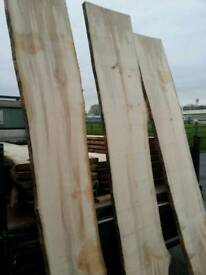 Sycamore hardwood slabs over 8ft