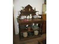 ANTIQUE SHAPED & CARVED SIDEBOARD - 'BUFFET CABINET'