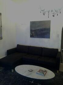 3 seater Dark Grey IKEA Karlstad sofa including chaise lounge