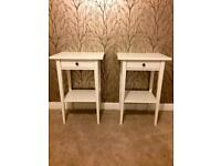 Hemnes bedside tables white mint condition x2