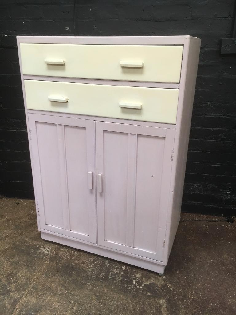 Fabulous vintage retro kitchen Unit from 1920s with original paint ...