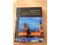 'Unlocking constitutional and administrative law' by mark Ryan. Constitutional law textbook.