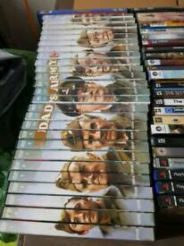 90 Dvd's and PC games including the complete Dad's Army set