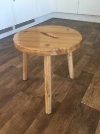 Handcrafted Solid Oak Stool