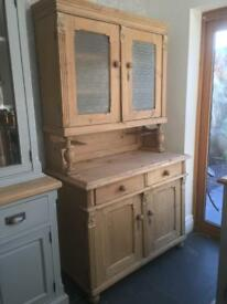 Old antique pine French dresser