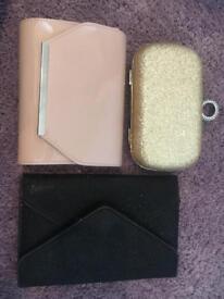 Various clutch bags