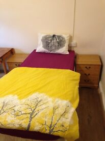 double size single room, twin room,single room,excellent location, luxury clean flat, no bills