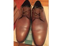 Tan leather shoes (size 7 uk)