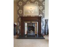 Mahogany Fireplace and Hearth