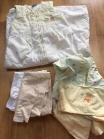 Cot bedding and grow bag