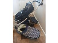 Maxi Cosi Elea push chair, foldable carry cot, nest and buggy board