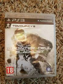 Tom Clancys Splinter Cell Blacklist Playstation three brand new