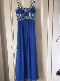 Quiz Maxi Blue Dress Size 12