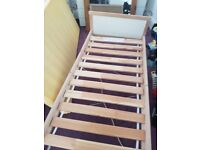 Wooden ikea toddler bed