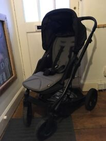 Mamas and Papas Sola City pushchair buggy bundle with carrycot and footmuff