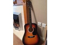 Fender squier SA-105 acoustic guitar in mint condition
