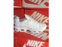 Mens Sizes 7 - 8 - 10 - 11 White Nike Air Max TNs BNIB