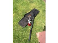 Two Collapsible Fishing Rods & Carp Pod