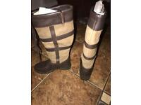 Ladies Brown Leather Boots