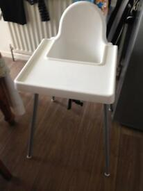 Ikea high chair with removable tray