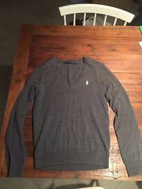 Grey Ralph Lauren jumper size medium