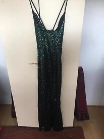 VERY Green Sequin Formal Dress Size 12/14