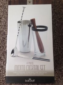 4 piece Mojito cocktail set, brand new, unopened, bar craft retails at 19.99