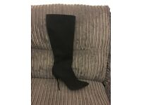Dune New leather knee high heels boots