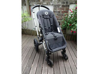 Bugaboo frog pushchair / pram in Black & Sand with carrycot & accessories