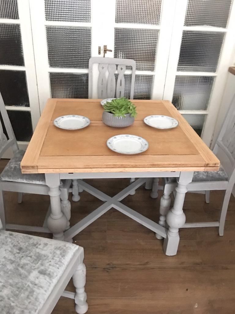 SOLID OAK TABLE EXTENDABLE FREE DELIVERY LDN🇬🇧