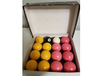 POOL BALLS FULL SET NEW...NOT USED