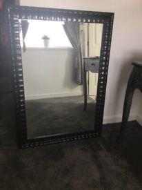 Large black John Lewis mirror