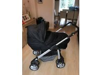 Silver cross 5 stage pram and car seat, excellent condition. Covers age from birth to 4 years.