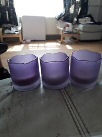 Purple candle holders