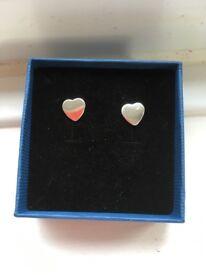 Heart shaped earrings - brand new