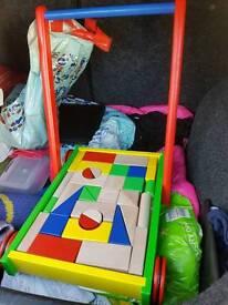 Toddler Trolley Of Bricks