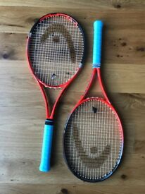 Head Youtek IG Radical MP tennis rackets .Grip 2 and 3