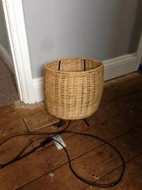 Small wicker lamp