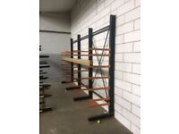 HEAVY DUTY CANTILEVER INDUSTRIAL COMMERCIAL WAREHOUSE RACKING UNIT