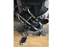 Icandy peach 2 double and maxi cosi car seat