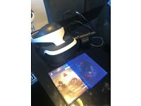 PS4 VR Unit, Camera and 2 games