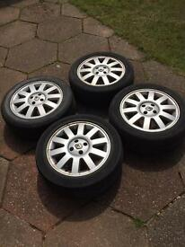 Set Of Renault Scenic Alloys and Tyres