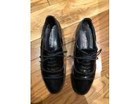 Russell & Bromley Loafers Flat Black Patent Leather size 40