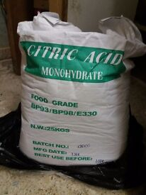 Citric acid 25kg new for bath bombs/household paid £50 selling £30