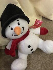 Brand new penguin 🐧 SNOWMAN gift cuddly toy asd sensory autism stocking filler Xmas gift Christmas